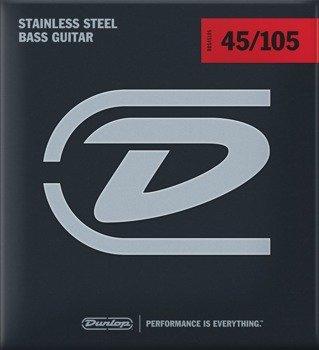 struny do gitary basowej JIM DUNLOP  - STAINLESS STEEL /045-105/ (DBS45105)