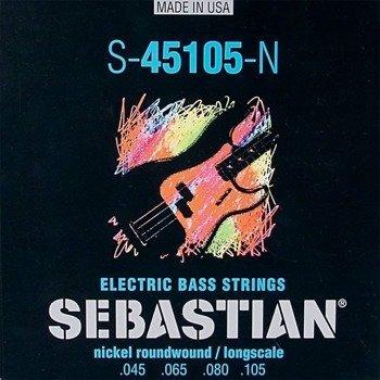 eddb99d949fd struny do gitary basowej SEBASTIAN S-45105-N NICKEL WOUND  045-105