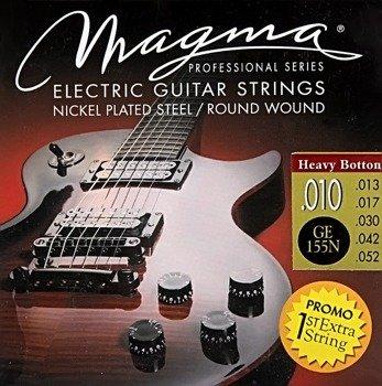 struny do gitary elektrycznej MAGMA GE155N Nickel Plated / Heavy Bottom /010-052/