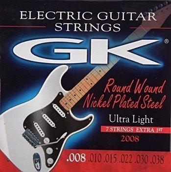 struny do gitary elektrycznej MEDINA GK Nickel Plated Ultra Light /008-038/