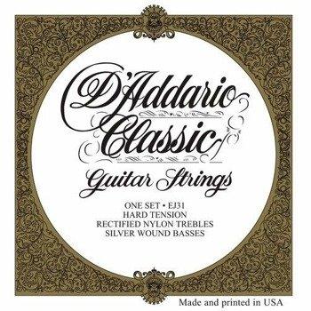 struny do gitary klasycznej D'ADDARIO - CLASSIC EJ31