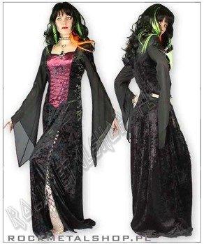 suknia MAXIME black/burgund [GT348] Laughing Vampire