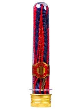 sznurowadła TUBELACES - GOLD ROPE HOOK UP NAVY/RED (130 cm)