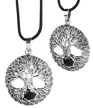 wisior TREE OF LIFE, srebro 925 cyrkonia black