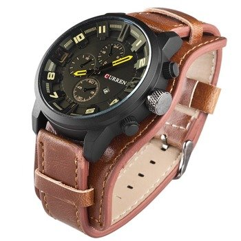 zegarek MILITARY CURREN BROWN