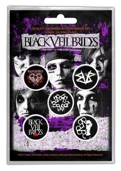 zestaw 5 szt. przypinek BLACK VEIL BRIDES
