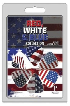 zestaw kostek PERRI'S - RED, WHITE & BLUE (6 szt)