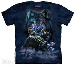 koszulka THE MOUNTAIN - WOLF PACK, barwiona