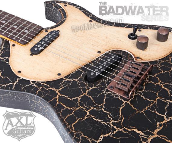 gitara elektryczna AXL / EL DORADO TELE / BLACK CRACKLE