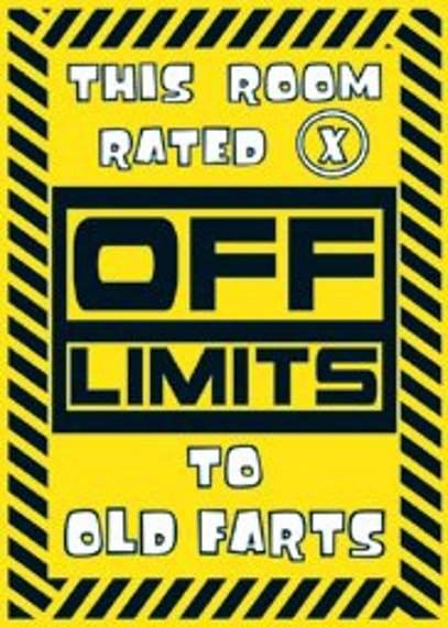 plakat OFF LIMITS  X RATED