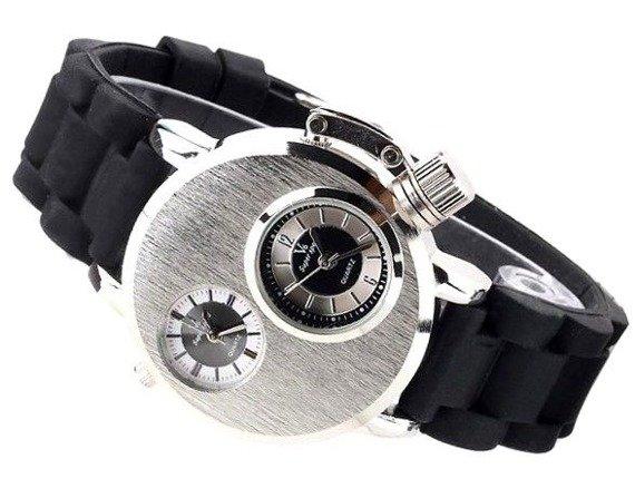 zegarek V6 DUAL TIME BLACK SILVER