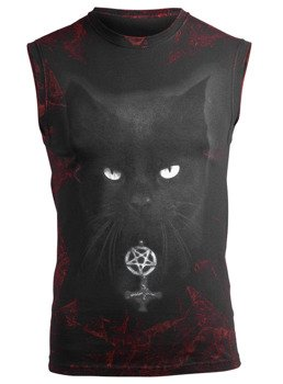 bezrękawnik AMENOMEN - BLACK CAT (OMEN075KR_ALLPRINT RED)