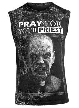 bezrękawnik AMENOMEN - PRAY FOR YOUR PRIEST (OMEN147BR ALLPRINT WHITE)
