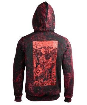 bluza AMENOMEN - DEVIL (OMEN094CR ALLPRINT RED) rozpinana, z kapturem