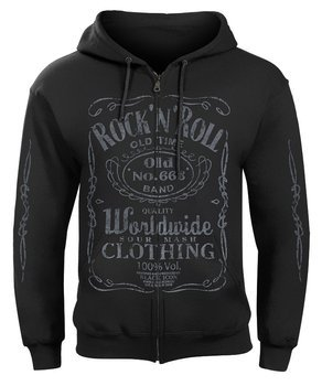 bluza BLACK ICON - ROCK N ROLL, rozpinana z kapturem