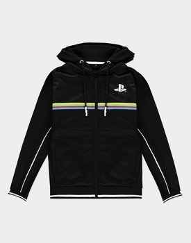 bluza PLAYSTATION - COLOR STRIPE, rozpinana z kapturem