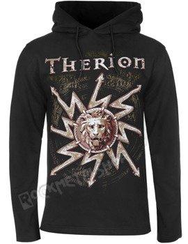 bluza THERION - LION czarna, z kapturem