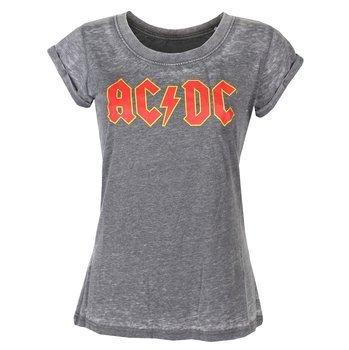 bluzka damska AC/DC - LOGO BURNOUT