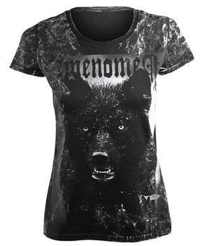 bluzka damska AMENOMEN - BLACK WOLF (OMEN024DA ALLPRINT WHITE)