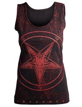 bluzka damska AMENOMEN - GOAT na ramiączkach (OMEN001DAR ALLPRINT RED)