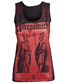 bluzka damska AMENOMEN - TWO POPES na ramiączkach (OMEN017DAR ALLPRINT RED)