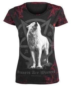 bluzka damska AMENOMEN - WHITE WOLF (OMEN048DA ALLPRINT RED)