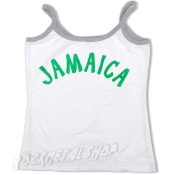 bluzka damska JAMAICA biała na ramiączkach