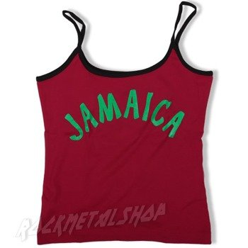 bluzka damska JAMAICA na ramiączkach czerwona