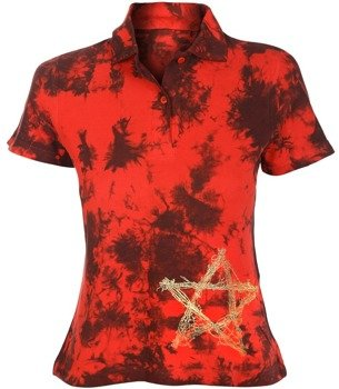 bluzka polo barwiona RED MIX - PENTAGRAM