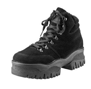 buty damskie ALTERCORE czarne (PAMELA BLACK FAUX SUEDE)