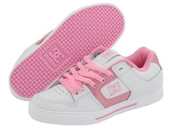 buty damskie DC- PURE (WHITE/PINK)