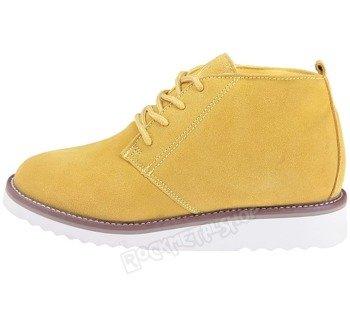 buty zamszowe NEW AGE - ŻÓŁTE / YELLOW (WS1272)