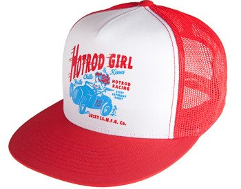 czapka LUCKY 13  - HOT ROD GIRL TRUCKER
