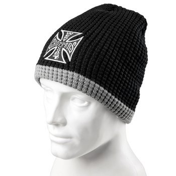 czapka zimowa WEST COAST CHOPPERS - KNITTED CROSS BLACK/GREY