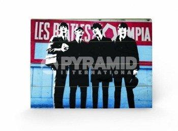 dekoracja/obraz na drewnie THE BEATLES IN PARIS