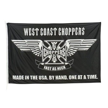 flaga WEST COAST CHOPPERS - FAST AS HECK (100cm x150cm) black