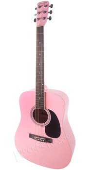 gitara akustyczna GRIMSHAW GSD-60-PK DREADNOUGHT pink