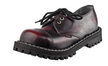 glany STEEL - RED / BLACK (3 dziurki)