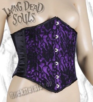 gorset LIVING DEAD SOULS (PURPLE) (CR7030)