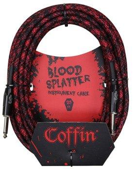 "kabel do gitary COFFIN ""BLOOD SPLATTER"" CF-ICBS25 / jack prosty / 7,6m"