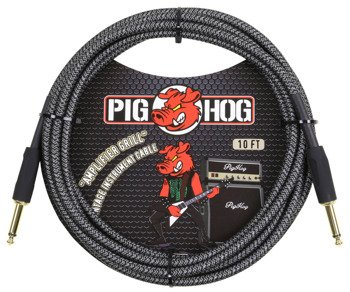 "kabel do gitary PIG HOG ""Amp Grill"" jack prosty 3m"