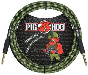 """kabel do gitary PIG HOG """"Camouflage"""" jack prosty, 3m"""