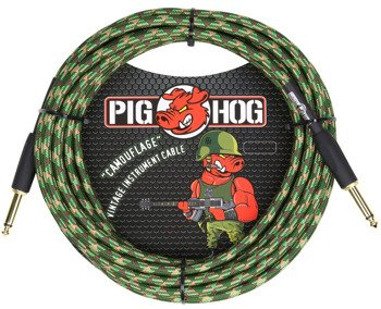 "kabel do gitary PIG HOG ""Camouflage"" jack prosty, 6m"