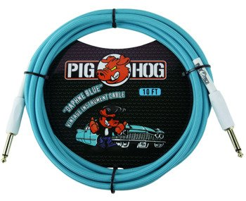"kabel do gitary PIG HOG ""Daphne Blue"" jack prosty 3m"