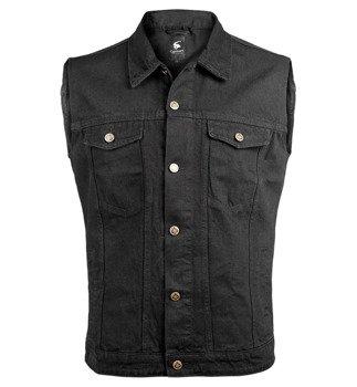 kamizelka DENIM VEST black jeansowa