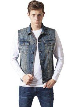 kamizelka DENIM VEST lightblue jeansowa