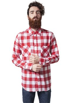 koszula CHECKED FLANELL wht/red