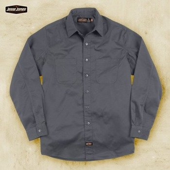 koszula JESSE JAMES - HEAVY DUTY WORKSHIRT szara