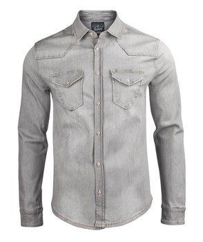 koszula RILEY DENIMSHIRT grey, jeansowa
