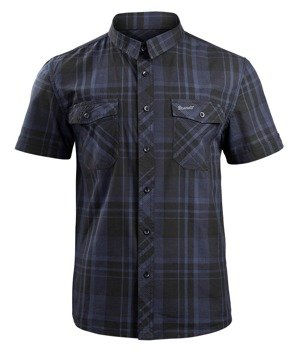koszula ROADSTAR SHIRT, 1/2 SLEEVE - BLACK/BLUE